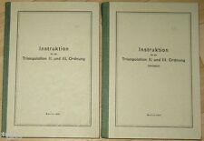 Instruction pour la triangulation II. & III. ordre 2 volumes rda 1961 topographie