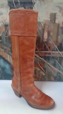 Vintage ACME DINGO Brown Leather  Tall Cowboy Western Riding Boots 6.5M