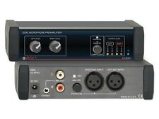 RDL EZ-MPA2 Dual Microphone Preamplifier - Stereo Output with Compressors