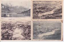 Lot 4 cartes postales anciennes LAC D'ANNECY plans du lac et la TOURNETTE