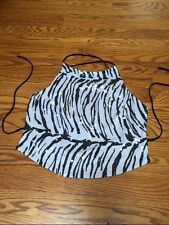 NWOT Bebe Sequin Zebra Open Back Tank One Size Fits All
