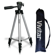 "50"" PROFESSIONAL VIVITAR TRIPOD FOR NIKON DSLR CANON EOS REBEL DSLR SONY ALPHA"