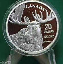 2012 Canada $20 Bateman Bull Moose Coin 99.99% silver