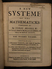 1681 1st ed New System of Mathematics by Sir Jonas Moore Astronomy Logarithms