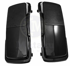 Vivid Black 6 x 9 Saddlebag Speaker Lids for Harley Touring models FLTR FLHR