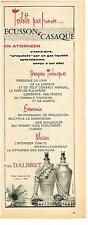 PUBLICITE ADVERTISING   1955  JEAN D'ALBRET  ECUSSON & CASAQUE  parfums