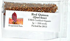350 USDA Organic Red Quinoa Grain Sprouting Seed Non GMO Freshly Packed For 2016