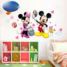 Mickey et Minnie Souris autocollant Mural Cartoon Vinyle Décalques Enfants Bébé