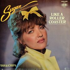 """7"""" SUGAR & THE LOLLIPOPS Like A Roller Coaster / Fish & Chips CNR 1982 like NEW!"""