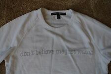 Joan Smalls TRUE RELIGION DON'T BELIEVE ME JUST WATCH Sweatshirt XS NWOT$148