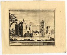 Antique Print-EGMOND-KASTEEL-CASTLE-NETHERLANDS-Schijnvoet-Roghman-1754