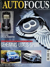 Auto Focus 1 01 2001 Hispano Suiza Horch 855 BMW 330 Xi Bentley EXP Clio Sport
