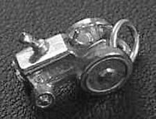 LOOK 3D Tractor Pendant Sterling Silver 925 Charm Jewelry