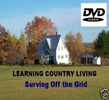 COUNTRY LIVING OFF THE GRID DVD BACKWOODS SURVIVAL SELF RELIANCE 2012 Gardening