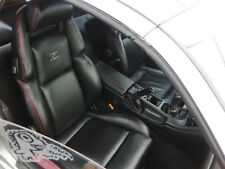 Custom made 1990-1999 300ZX/Z32 Genuine Leather Seat Covers Black With Grey Logo