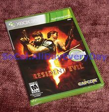 Resident Evil 5 (Xbox 360, LIVE) **BRAND NEW & SEALED** online multiplayer co-op