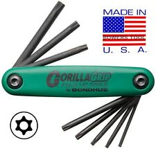 Bondhus Gorilla Grip Tamper Resistant Security Torx Star Fold Up Wrench T7-T25