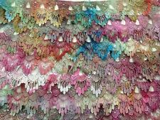 """Venise lace hand dyed rayon 2.25 """" wide sold by yard one of a kind soft brights"""