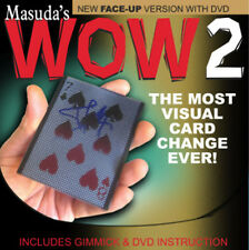 ORIGINAL WOW 2.0 Face Up 9D Version w/DVD by Masuda playing cards magic trick