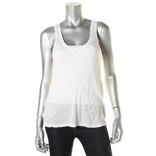 Rails 3368 Womens White Knit Slub Scoop Neck Tank Top Sweater M BHFO
