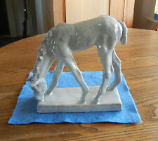 German Antique Ceramic / Grazing Spring Foal by Else Bach w/Label /Free SHIPPING
