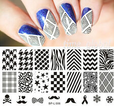 Nail Art Stamping Schablonen Stempel Template Image Plate  BP-L006 12.5 x 6.5cm
