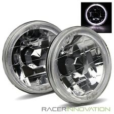 "5-3/4"" 5.75"" Round H5001/H5006 White LED Halo Crystal Diamond Headlights Lamps"