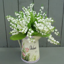 Artificial Lily of Valley Flowers with Jug - 18 Stems