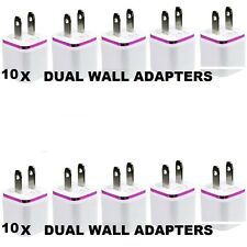 LOT of 10x 2Ports Dual USB AC Wall Charger for Samsung 3 4  iPhone 6 6s 5 4 3 5s