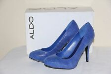New Aldo Marx Women's Blue Platform Shoes Fashion HIGH Heels Size US 6/ EUR 36