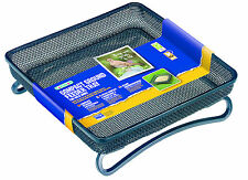 Compact GROUND FEEDER TRAY Black Steel Mesh Bird Hedgehog | FREE Fast Delivery!