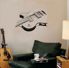 Electric Guitar Music Rock Pop Wall Stickers Art Mural Vinyl Decal Home Decor