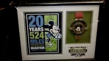Disney Merchandise 2013 Marathon 20th Anniversary Framed with print and Medal