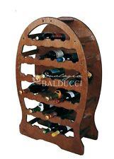 Cantinetta portabottiglie in legno a botte 33posti vino