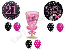 21ST Birthday Champagne Bubbly Party Balloons Decoration Twenty-One Drink