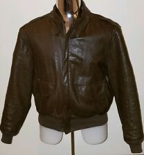 Cooper Authentic Type A-2 Flight Goatskin Leather Jacket Bomber A2 46R USA VTG