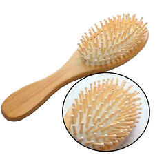 Unisex Men Girl Bamboo Wooden Hair Brush Beauty Massager Massage Comb