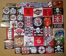 40 pegatinas fanszene Sankt Pauli sticker ultra USP cabezas rapadas K. pañuelo de seda St.