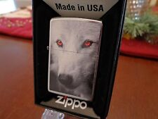 WOLF WITH RED EYES ZIPPO LIGHTER MINT IN BOX