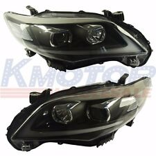 New Headlights DRL Halo LED Projector Head lights For Toyota Corolla 2011-2013