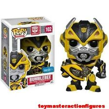FUNKO POP 2014 MOVIES TRANSFORMERS BUMBLEBEE w/CANNON #102 WALMART IN STOCK