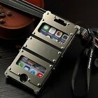 Armor Luxury Leather Metal Aluminum Case Cover For Apple iPhone 6/6s/Plus