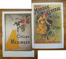 """1973 PRINT/POSTER/AD~1894/1897~MEDINGER/MANEGE BICYCLES~DOUBLE SIDE~16""""x11"""""""