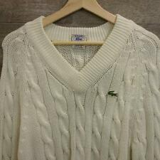 VTG Mens Izod Lacoste Tennis/Golf Cable knit Acrylic Crocodile Sweater Size L