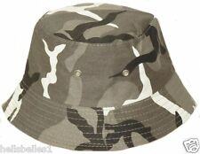 BOY'S CAMO SUMMER/SUN BUCKET/BUSH HAT 48CM OR 52CM GREAT VALUE!