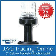 "12V 36-LED 5"" DELUXE PEDESTAL ANCHOR WHITE LIGHT -Boat/Navigation/Stern/Running"