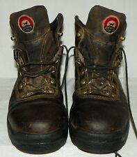 Mens Irish Setter Red Wing Style 83607 Brown Leather Ankle Work Boot Shoes Sz 9