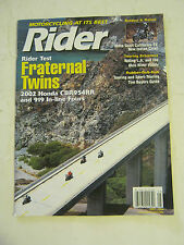 May 2002 Rider Magazine - Rider Test Fraternal Twins (BD-48)