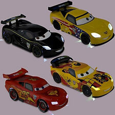 NEU: 4x XXL LIGHT-UP CARS McQUEEN JEFF CORVETTE LEWIS HAMILTON & MIGUEL CAMINO