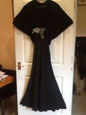 Matthew Williamson BALCK SILK Impreziosito maxi dress UK10 Net un PORTER RRP £ 1150